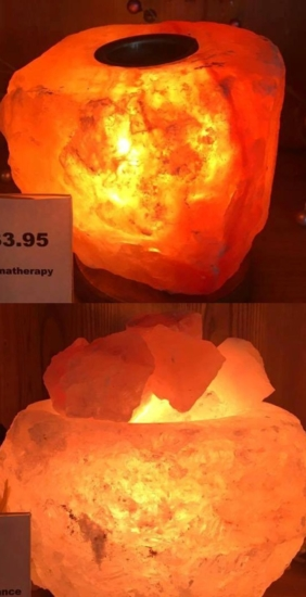 2 Salt Lamps from Denise Hall Clardy