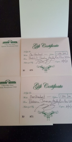 $100 Jewelry Gift Certificate (2)